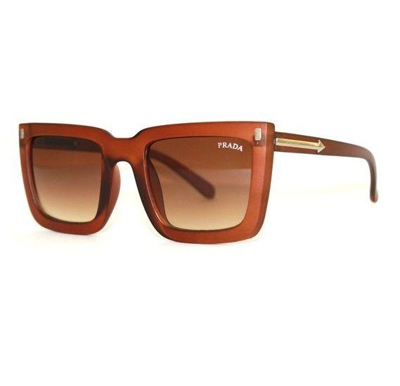 Óculos Prada máscara marrom - Black Luxo aa381dc8cd