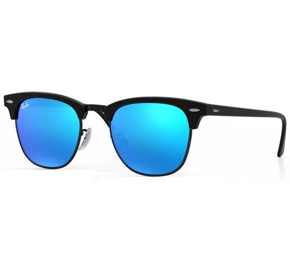 8c98992d79dd6 Óculos Ray Ban Clubmaster espelhado azul - Black Luxo